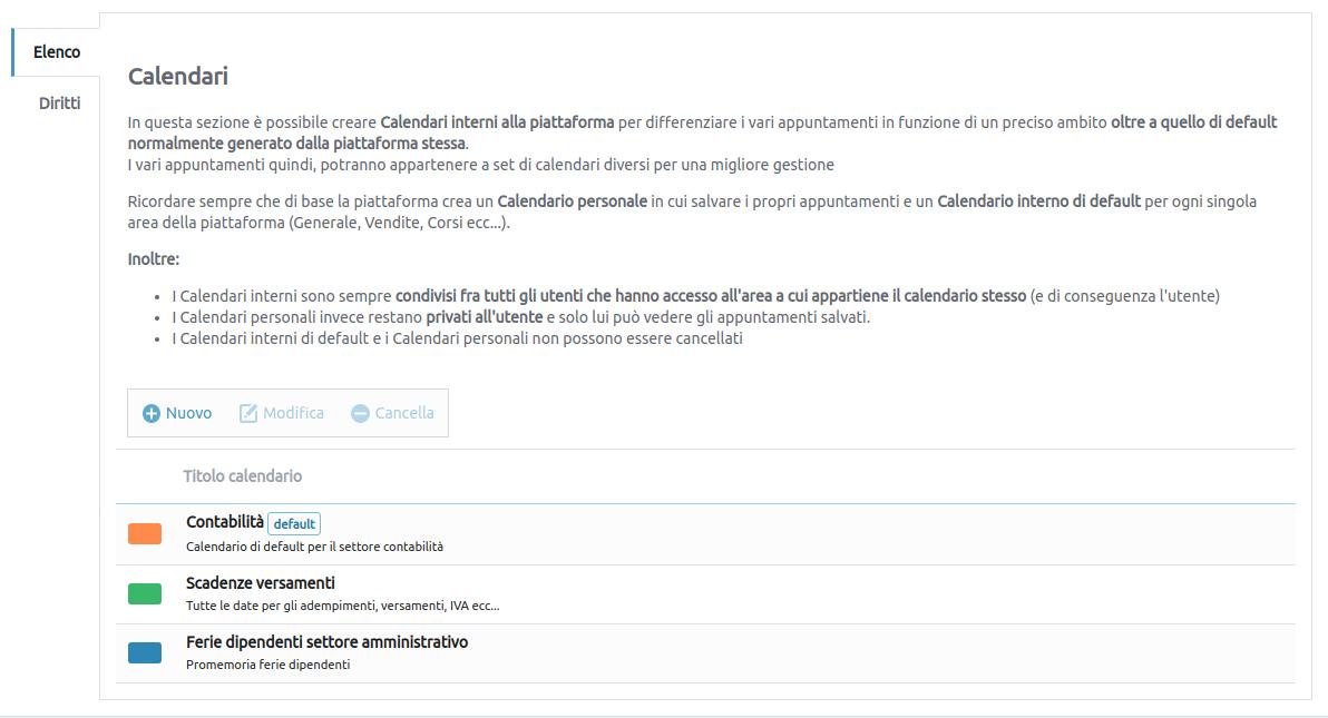 immagine: applicazione di gestione Calendari interni piattaforma